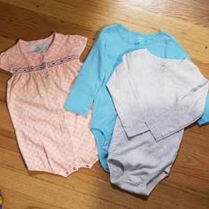 Carters size 24 body suits and romper